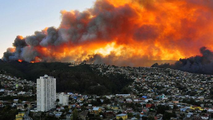 Крупные пожары в России