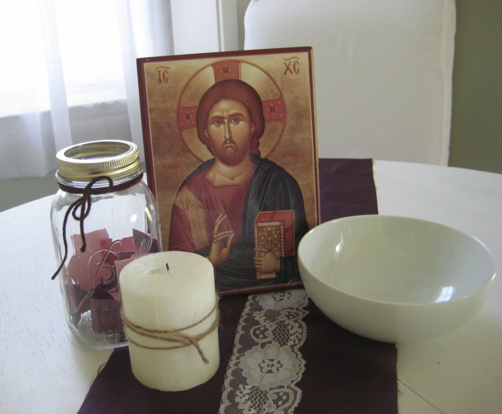 Иконка и свеча