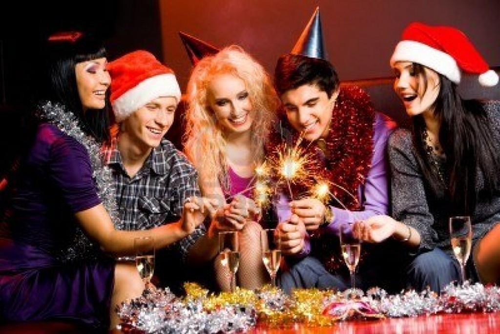 Новогодняя вечеринка с друзьями