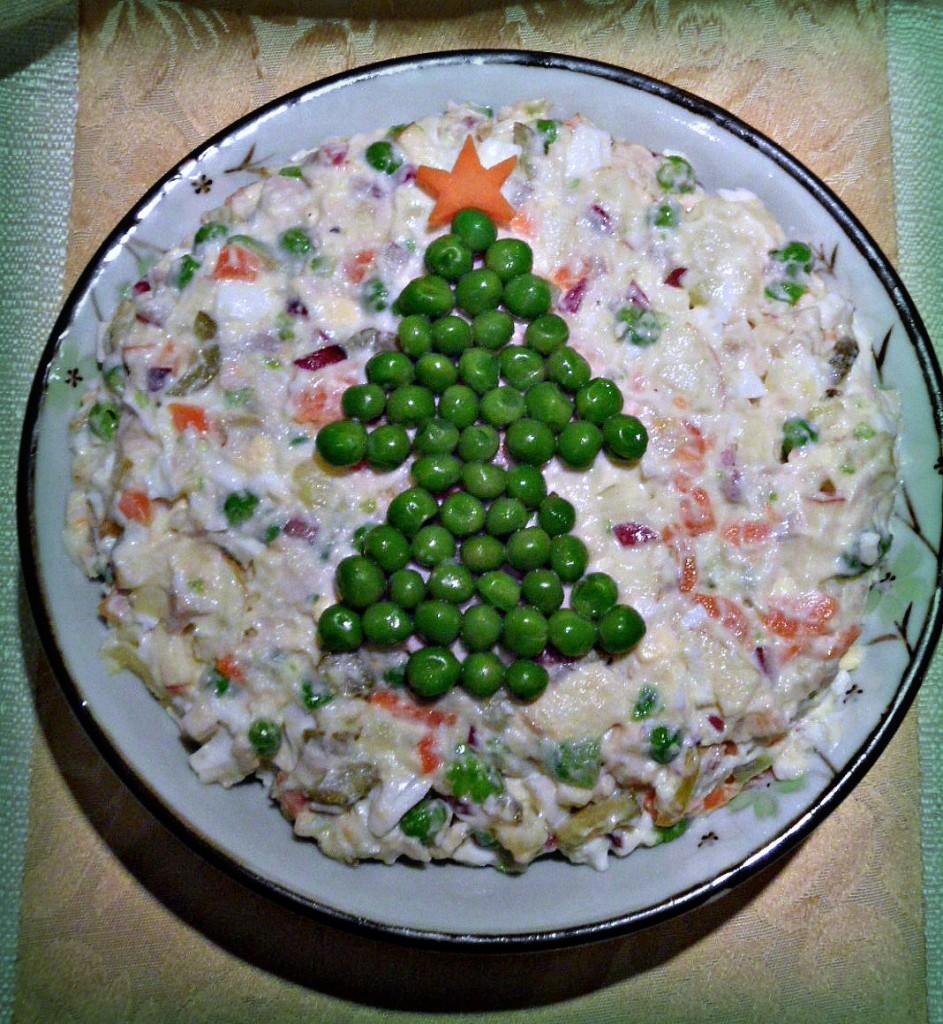Новогодний оригинальный салат