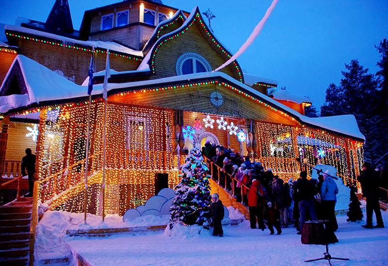 Дед мороз на Новый год в Карелии